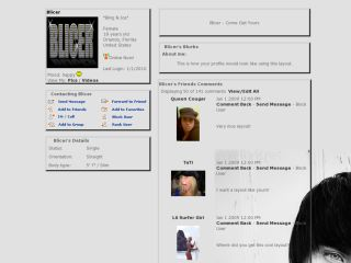 Alex Evans Myspace Layout